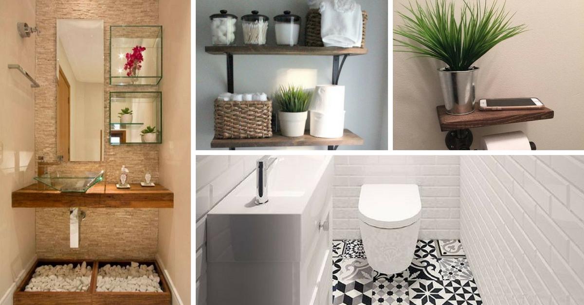 12 dicas para decorar banheiros pequenos for Ideas para decorar ambientes pequenos