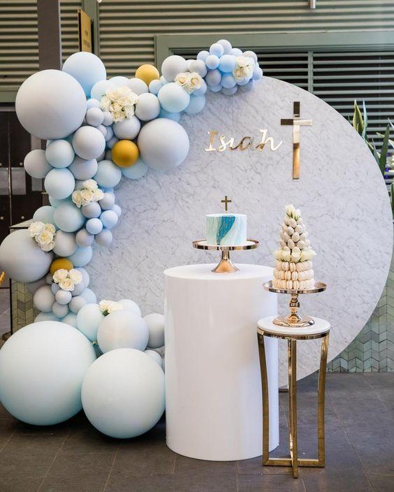 decoracao batizado baloes