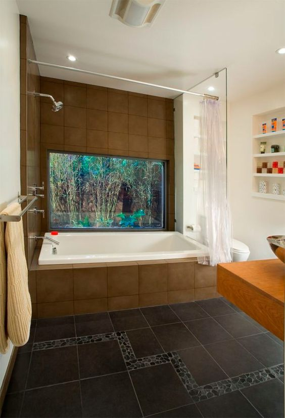 decoracao casa aquario banheiro 1