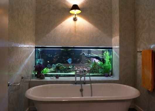 decoracao casa aquario banheiro