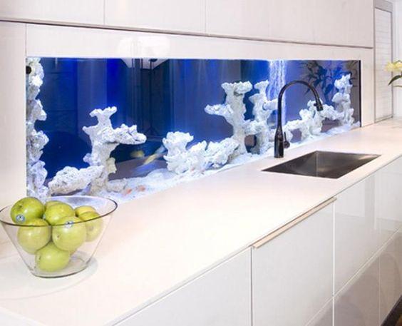 decoracao casa aquario cozinha