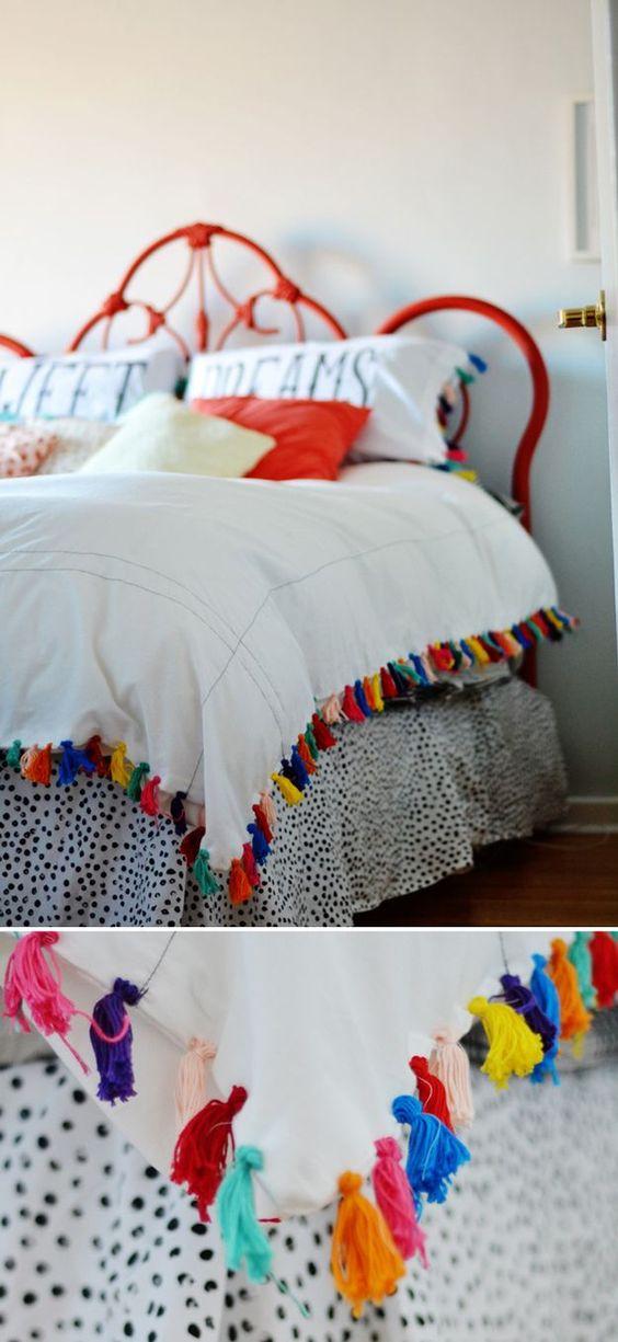 decoracao casa franjas colorido