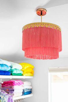 decoracao casa franjas luminaria