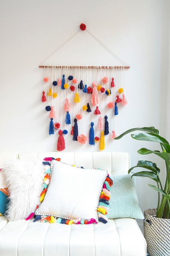 decoracao casa franjas sala
