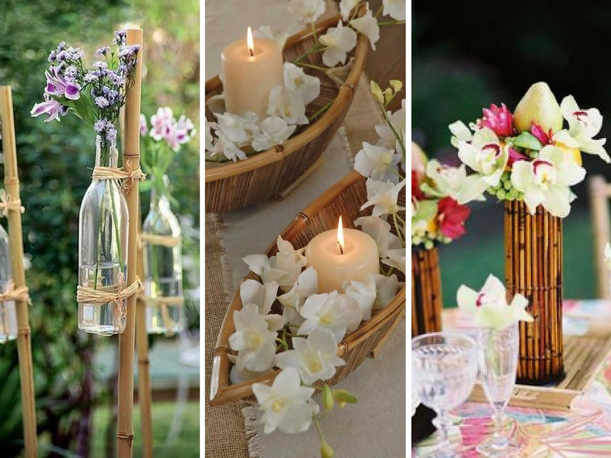 decoracao casamento bambo