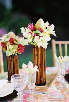 decoracao casamento bambu