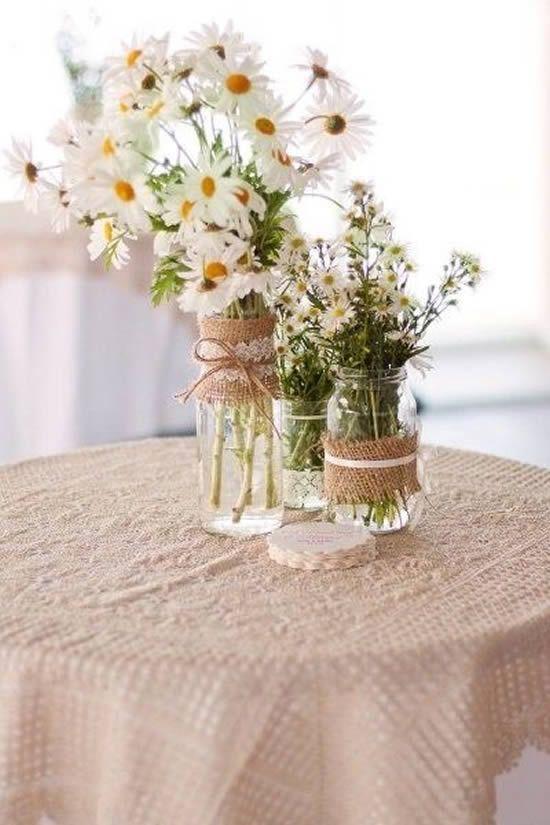 decoracao casamento juta