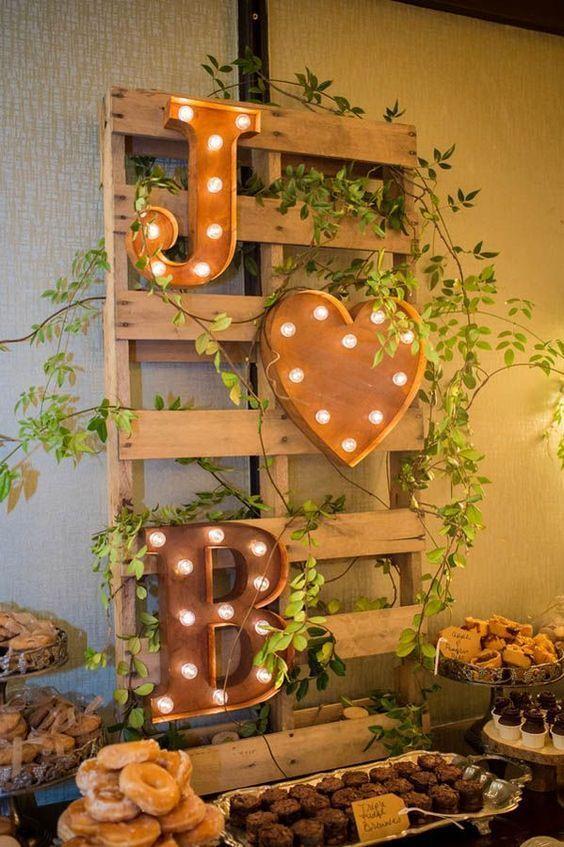 decoracao casamento madeira