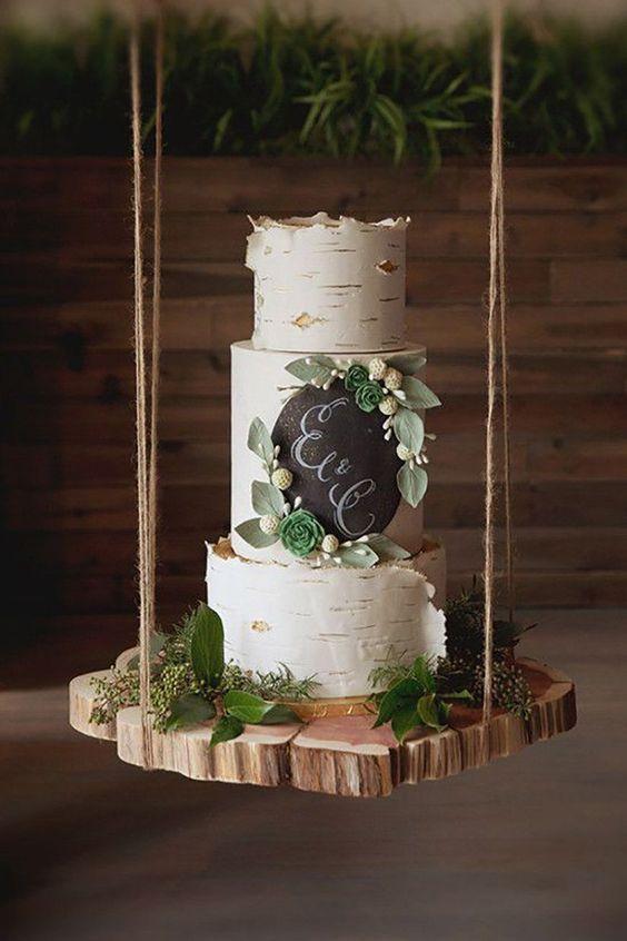 decoracao casamento simples bolo
