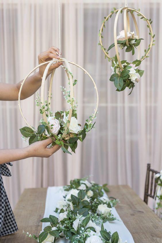 decoracao casamento simples guirlandas
