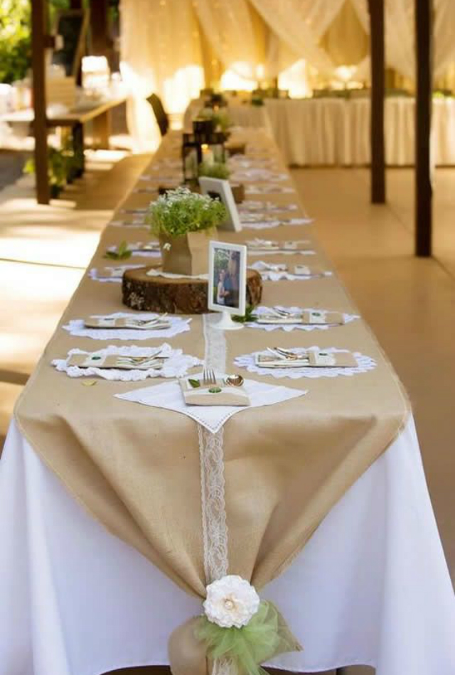 decoracao casamento simples mesa
