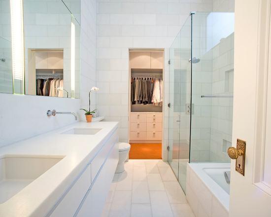 decoracao closet banheiro integrados 3