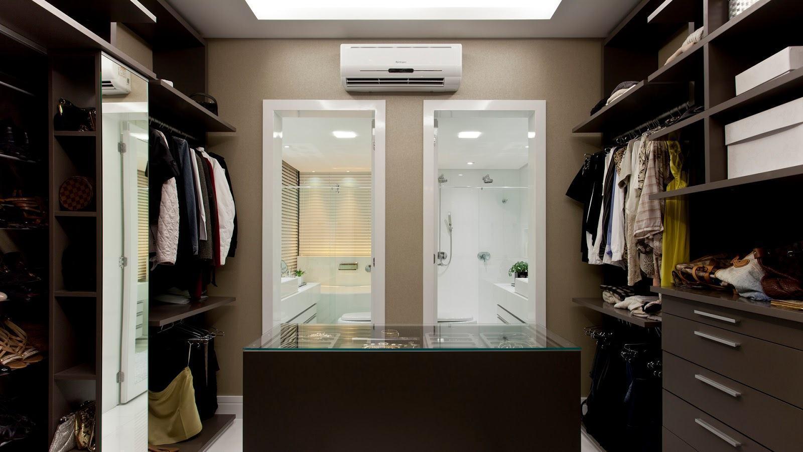 decoracao closet banheiro integrados 9 #1A120D 1600x900 Banheiro Closet