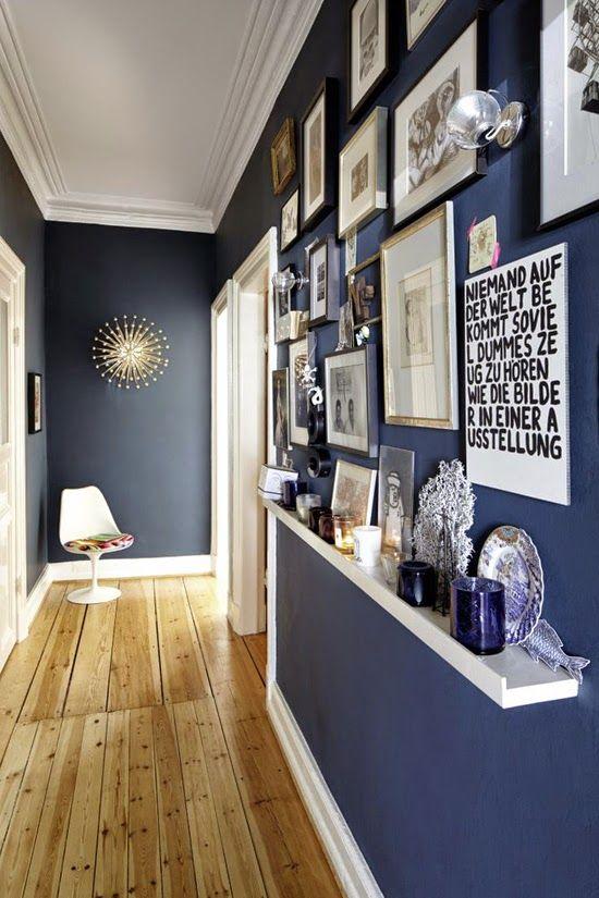 decoracao corredor azul