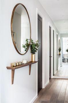 decoracao corredor espelho