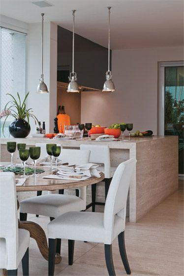 decoracao cozinha marmore travertino