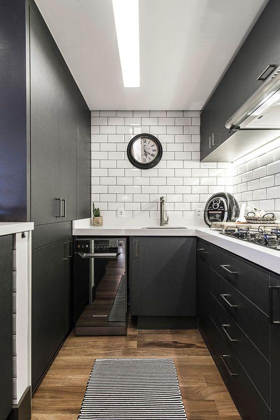 decoracao cozinha preto