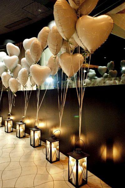 decoracao festa noivado baloes coracao
