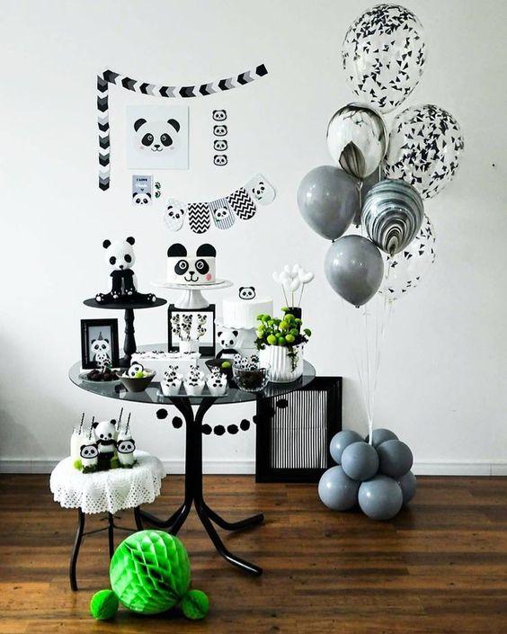 decoracao festa preto