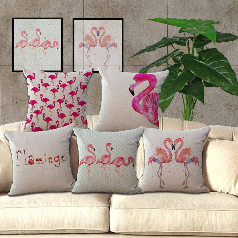 decoracao flamingos almofadas