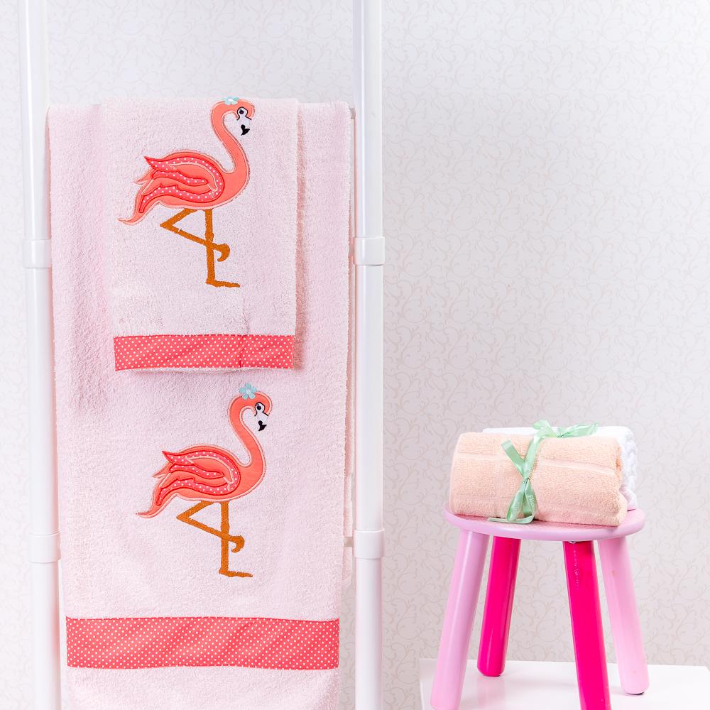 decoracao flamingos toalhas