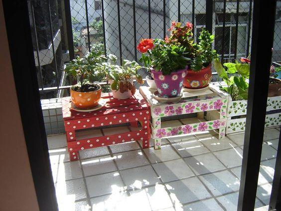 decoracao jardim caixas madeira 10