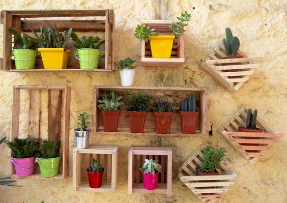 decoracao jardim caixas madeira 2