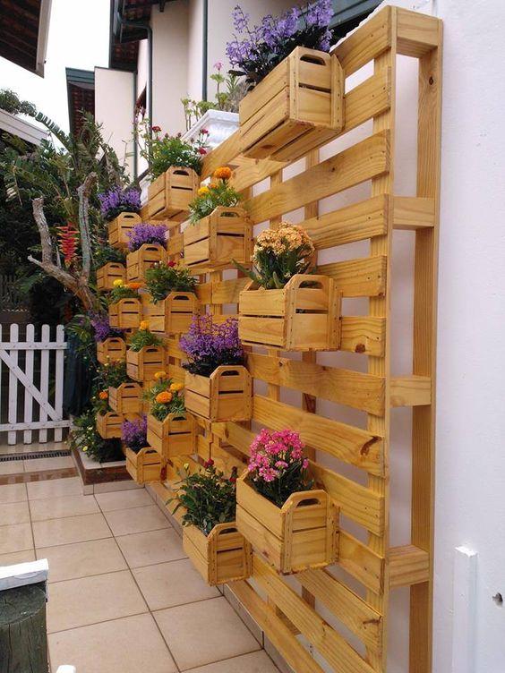 decoracao jardim caixas madeira 5