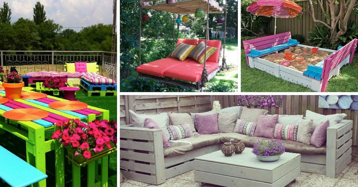 DIY Decoraç u00e3o de Jardim com Paletes -> Decoração Para Jardins Com Paletes