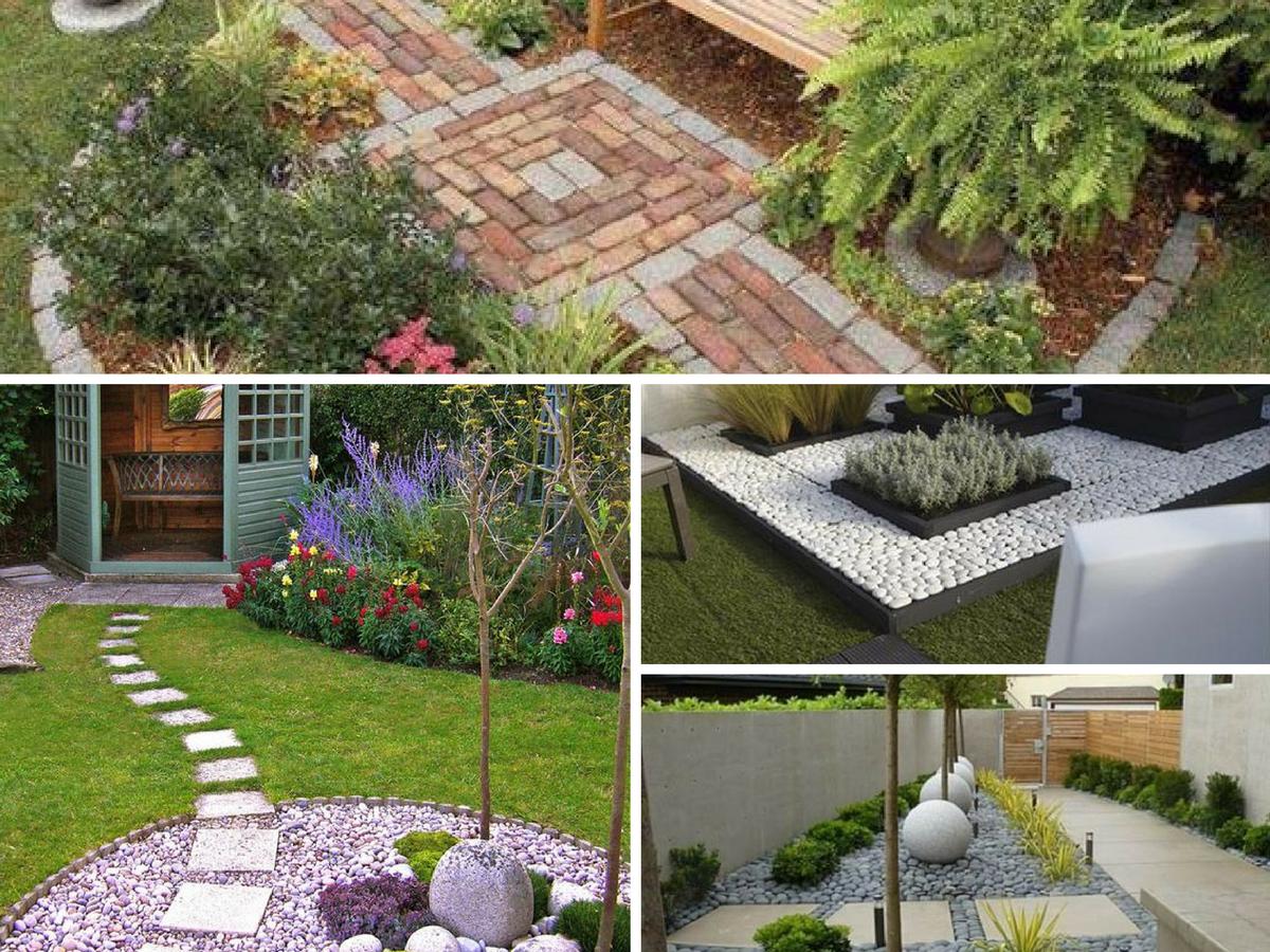Ideias para decorar o jardim com pedras