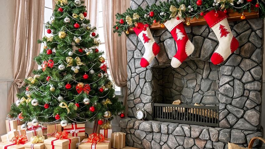 10 ideias para pendurar as meias de natal. Black Bedroom Furniture Sets. Home Design Ideas
