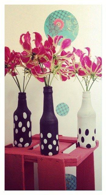 decoracao mesa garrafa vidro encarpada