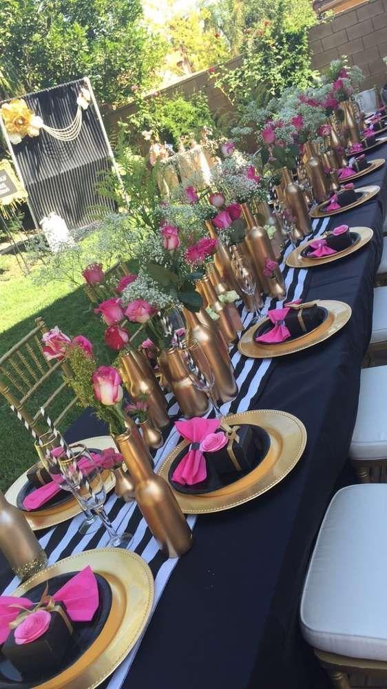 decoracao mesa garrafa vidro flores