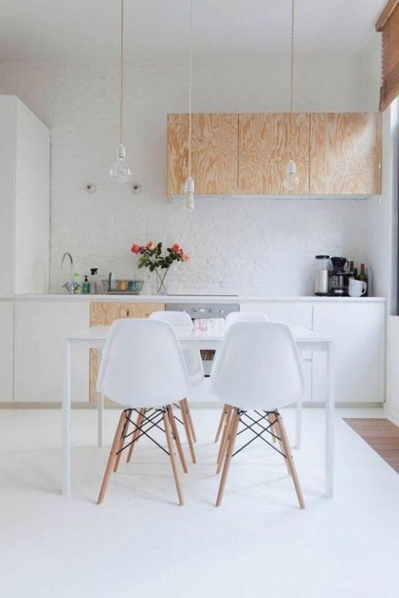 decoracao minimalista cozinha branca