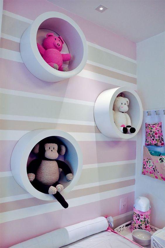 decoracao papel parede quarto menina listras