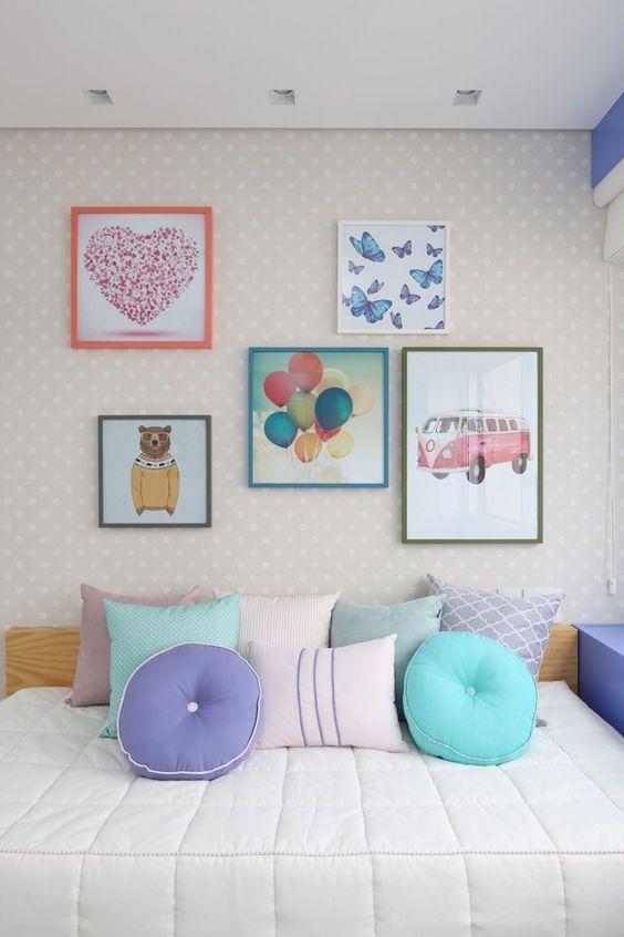 decoracao papel parede quarto menina simples