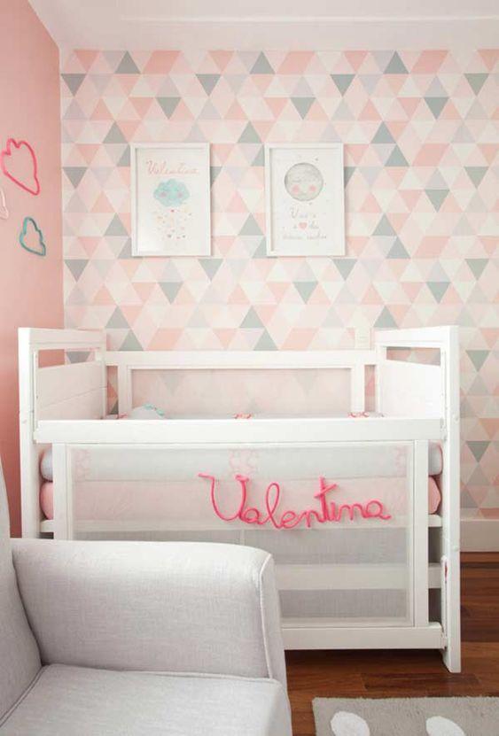 decoracao papel parede quarto menina