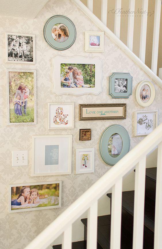 decoracao parede escadas 2