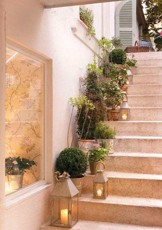 decoracao parede escadas nicho