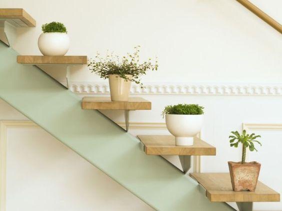 decoracao parede escadas plantas 1