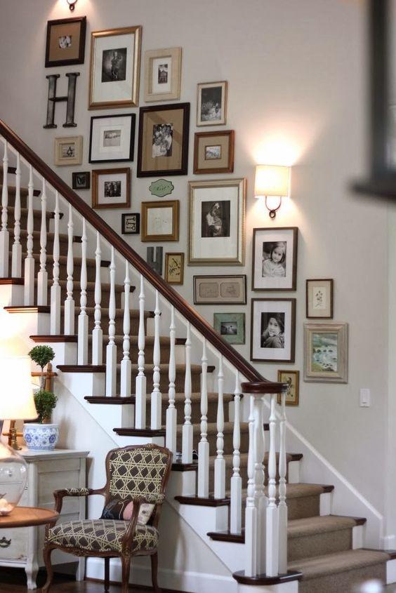 decoracao parede escadas