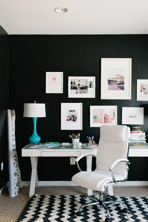 decoracao parede preta