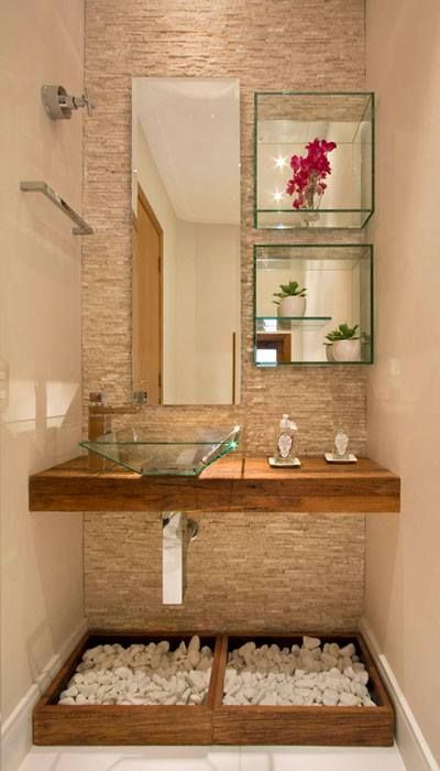 decoracao pedras banheiro