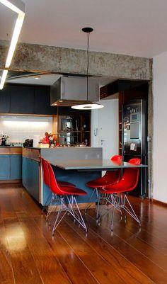 decoracao piso cozinha madeira