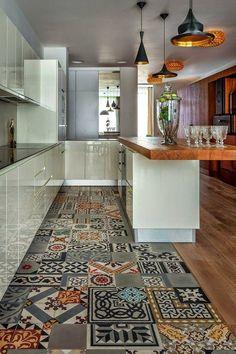 decoracao piso cozinha