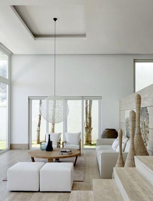 decoracao piso marmore travertino