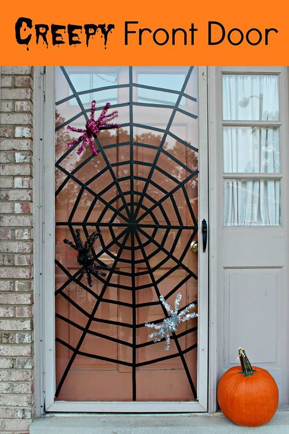 decoracao porta halloween 8