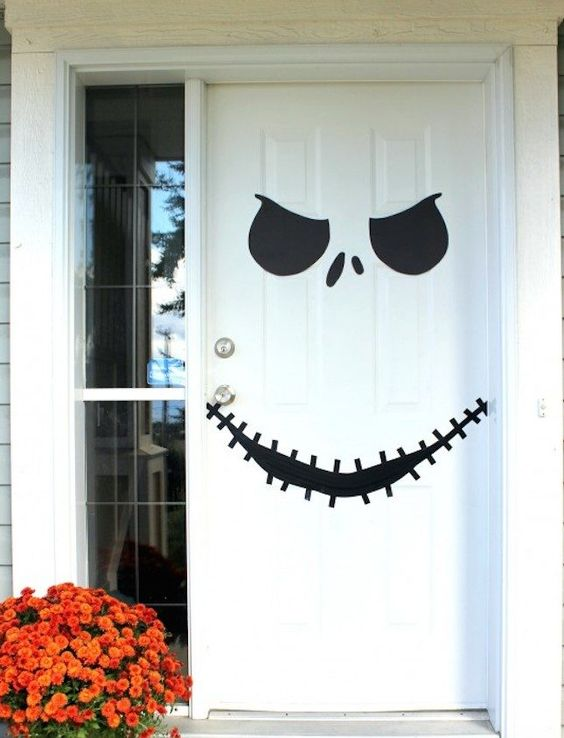 decoracao porta halloween