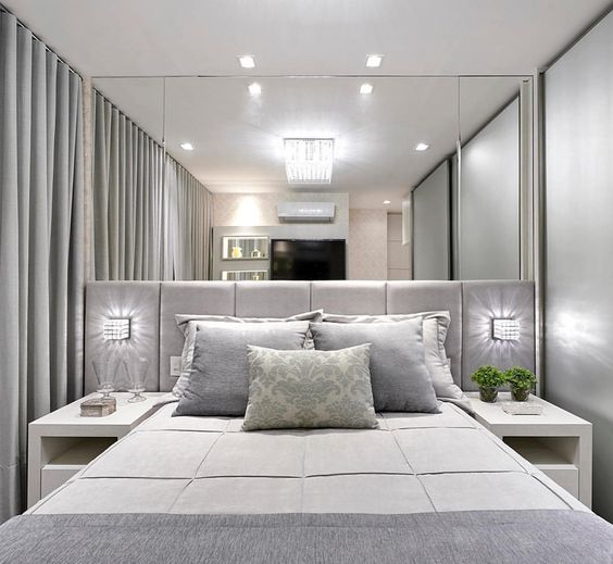 decoracao quarto casal moderno aconchegante cinza