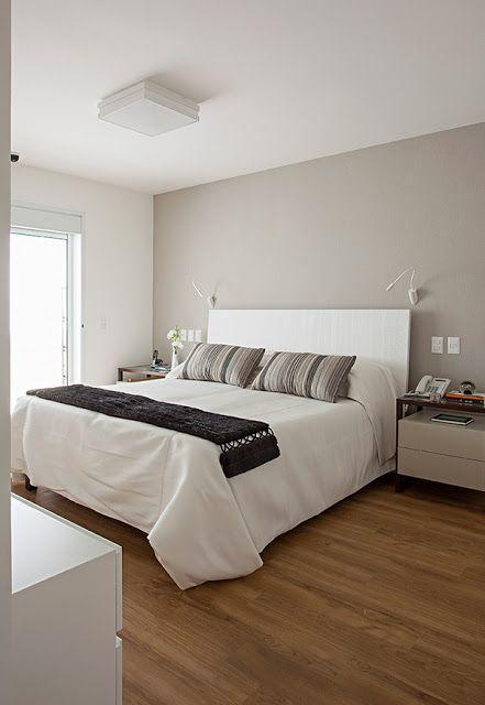 decoracao quarto casal moderno branco cinza